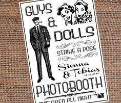 Custom Photobooth Sign DIY Printable 30in x 20in Retro Wedding Photo Booth. $15.00, via Etsy.
