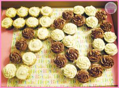 Image result for 70 birthday cupcake cake