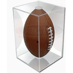 Awesome football display case for your old highschool football, or even a fan football signed by your favorite team. Something every football fan should have! This would make a terrific fathers day gift. $20.10 #fathersday #football #sports #display #gift #case