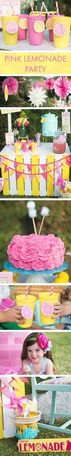 Create the perfect lemonade party with these cute ideas from @sweetjellyparties photgraphy by @hellobluephoto