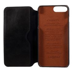 Wallet Leather Folio Mobile Phone Casing for iPhone 7 Plus - Black