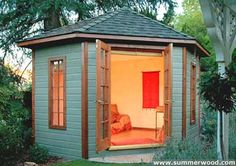 Backyard retreat woman cave art studios 15 Ideas for 2019 Backyard Guest Houses, Backyard Cabin, Backyard Office, Backyard Studio, Backyard Sheds, Backyard Retreat, Garden Sheds, Garden Playhouse, Garden Office