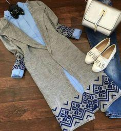 Love to wear ❤ Casual Hijab Outfit, Hijab Chic, Hijab Dress, Modesty Fashion, Hijab Fashion, Fashion Outfits, Islamic Fashion, Muslim Fashion, Stylish Dresses For Girls
