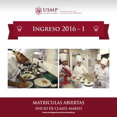 #IngresoIACG | ¡Es momento de desarrollar tu talento para la cocina! Inscríbete en nuestro Instituto de Alta Cocina y Gastronomía USMP y vive la pasión por las artes culinarias.