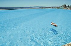 The largest swimming pool in the world, in San Alfonso del Mar in Algarrobo city, on the southern coast of Chile.