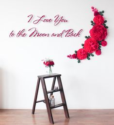 Red paper flowers wall decor - Flowers wall backdrop - Paper flowers wall decor - Wedding paper flowers wall backdrop - Wall flowers set