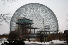 Buckminister Fuller's Geodesic Dome designed for Canada's Expo 67 in Montreal. (caribb/Flickr)