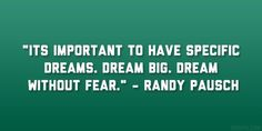 Pocket : 32 Engaging Randy Pausch Quotes