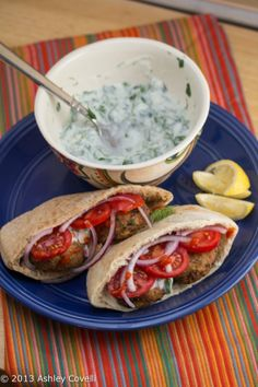 Falafel with Yogurt-Herb Sauce