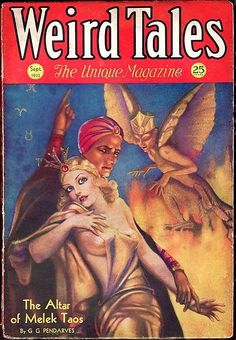 Weird Tales Magazine - 1932 Sep - Margaret Brundage Cover Art