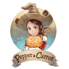 Pepper and Carrot logo by Deevad on DeviantArt