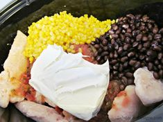 Salsa and cream cheese crock pot chicken. Just had it for dinner and we all LOVED it!!