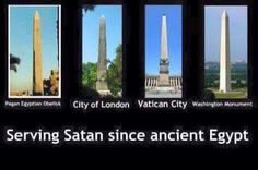 """The obelisk originally called """"teckhenu"""" in Ancient Egypt (their greatest deity); when Greeks saw them they chose to call it """"obeliskos'; this word passed into Latin & ultimately English. Obelisks symbolize the sun god,""""Ra"""" and not our true God that we worship. †"""