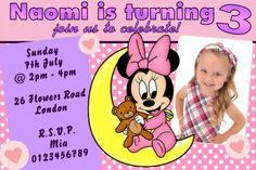 Personalised Minnie Mouse Birthday Invitations