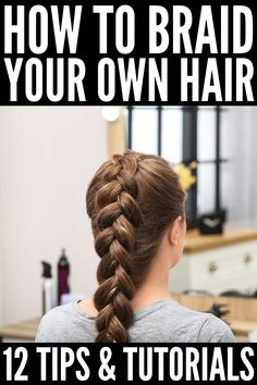 How to Braid Your Own Hair: 5 Step-by-Step Tutorials for Beginners Learn how to braid your own hair with these step by step French, Dutch, fishtail, halo, and waterfall braid tutorials for beginners! Easy Hairstyles For Medium Hair, Short Hair Styles Easy, Easy Hairstyles For Long Hair, Braids For Short Hair, Medium Hair Styles, Curly Hair Styles, Styles Locs, Short Hair Braids Tutorial, Curly Hair Braids