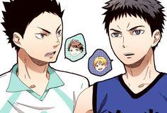 Haikyuu!! & Kuroko no Basket crossover #hq #knb #iwaizumi #kasamatsu #ooikawa #kise