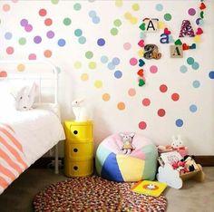 Confetti wall spots
