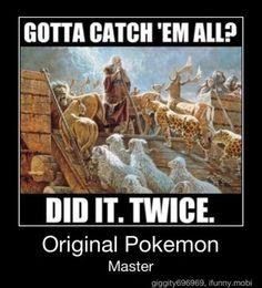 LOVING The Original Pokemon Master, LOL !! -=- [Source:: CatholicMemes.com]