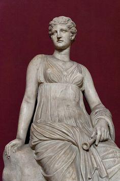 Euterpe, Muse of lyric poetry, Tivoli, Italy Tivoli Italy, Fall Of Constantinople, Lyric Poetry, Pagan Art, Greek And Roman Mythology, Roman Sculpture, Roman History, My Muse, Statue