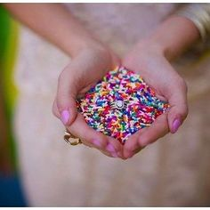 sprinkles instead of rice to be thrown at your wedding
