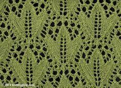 Ivy Leaf - Knittingfool Stitch Detail