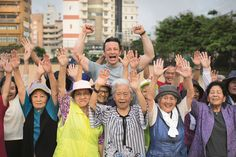 Jamie Oliver's Everyday Super Food. Jamie in Okinawa, Japan. Across the island of Okinawa, Japan, groups like this meet every day at 6.30am to move, stretch, dance and socialize to three songs on the radio. It's called radio exercise and has been going on for nearly 100 years. Research shows that staying socially connected means you're three times more likely to live to 100. At the heart of these groups is friendship, community, routine and a sense of daily purpose.