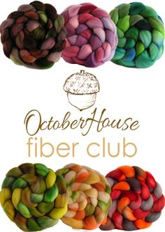 If you enjoy getting surprises in the mail once a month (and hey, who doesn't!?) and if you enjoy color in your spinning and are looking to try different wool breeds, you need to try October House Fiber Arts Fiber Club!