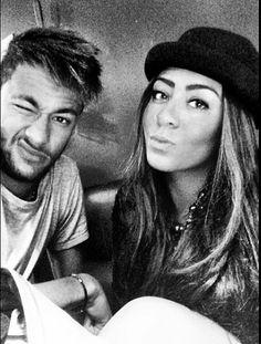look at Neymar face..xx so cute and Rafaella such a beauty♡