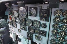 """Fairchild C-123K """"Provider"""" pilot side cockpit"""