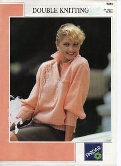 womens sweater with collar knitting pattern lacy by Hobohooks