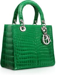 Glossy green crocodile miss dior bag
