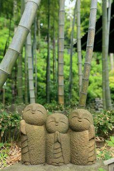 Little monk art ☸️ Small Jizo statues