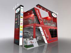 Medium and large expo booths. by Nikolay Yarin at Coroflot.com