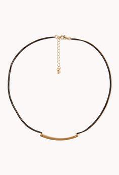 Contrast Bar Necklace