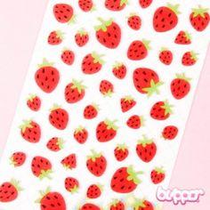 Funny Sticker World huopatarrat - Mansikka - Kawaii tarrat - Paperitavara   Blippo Kawaii Shop