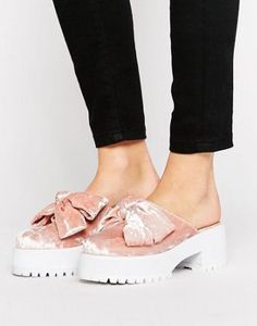 ASOS OCTOBER Chunky Bow Mules