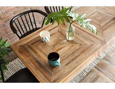 ZAK - Recycled teak dining table - Natural