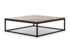 Table basse BARKLEY 90x90 en teck gris