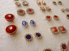 making of Earring Studs / Patches at Home | Tutorial - YouTube
