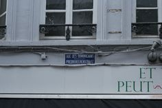 Bilingual street name sign, Brussels, Belgium Street Name Sign, Street Names, Brussels Belgium, Name Signs, Rue, Name Labels, Name Tags