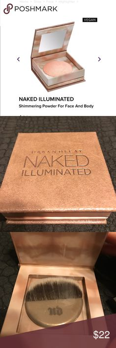 Naked Illuminated By Urban Decay New never used Naked Illuminated in the shade Aura Urban Decay Makeup Luminizer