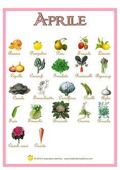 frutta e verdura di aprile by ilcalendariodellorto