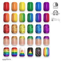 "alaskametro<3 ""Pride"" rainbow nail art appliers   Appliers: Slink/Omega/Maitreya"