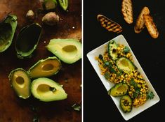 Grilled Avocado Salad and Berries with Honey Creme Anglaise