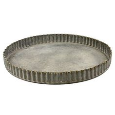 Picture of HomArt Ross Tray - Round - Med Frame Tray, Coffee Table Tray, Small Tray, Buy Metal, Round Tray, Metal Trays, Steel Metal, Glass Domes, Flute