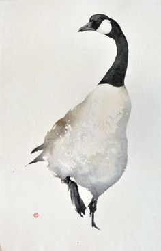Canada Goose by Karl Martens signed watercolour