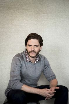 Actor Daniel Bruhl is photographed during a day of media presentations for his upcoming role as race driver Niki Lauda in Ron Howard's new f...