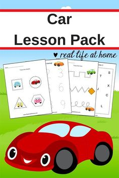 Keep little ones occupied and learning in the car with these fun printables! :: www.thriftyhomeschoolers.com