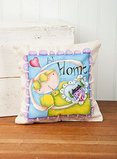 Heart at Home Painting Instruction Packet by Deb Antonick. Canvas pillow cover, pillow insert, and exclusive pattern designs are available at www.ArtistsClub.com