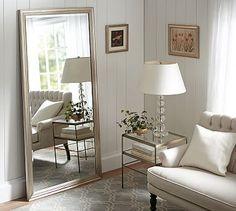 Pottery Barn Oversized Leaning Floor Mirror - home decor / floor ...